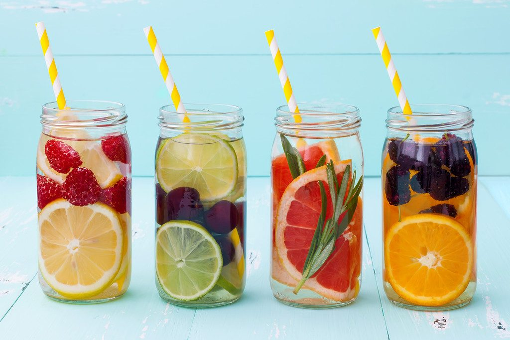 Fruited waters are a great way to hydrate
