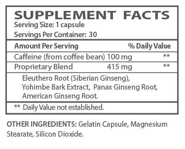 Extreme Energy supplement facts