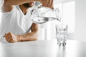 Drinking water is vital for healthy digestion and exercise.