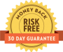 We have a 100% guaranteed, 30-day money-back guarantee.
