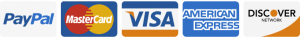 We offer MasterCard, Visa, American Express, Discover, and PayPal